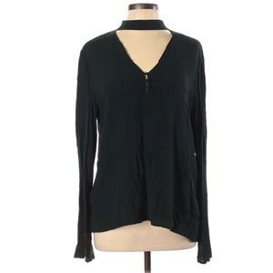 Sanctuary Meadow Green Raven Long Sleeve Top Large